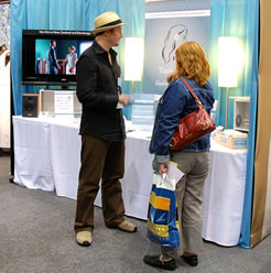 Andy at our stand (The 2010 Wellington Wedding Show).