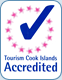 We're accredited by Tourism Cook Islands.